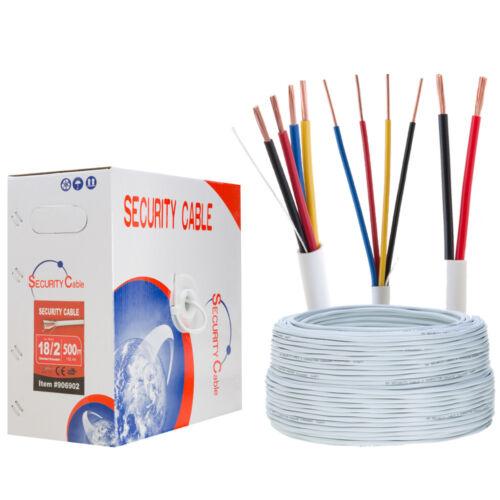 Burglar Security ALARM Cable 500ft 1000ft UTP 18//2 18//4 22//2 22//4 Stranded Solid