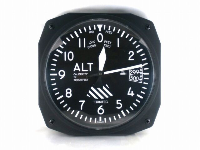 10 Altimeter Style Wall Clock