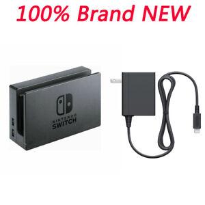 New-Switch-Dock-w-AC-Power-Adapter-Set-For-Nintendo-switch-Black-OEM
