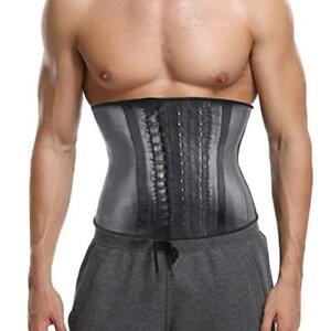9b13c8bf43f Details about Men Latex Rubber Body Shaper Slimming Waist Cincher Trainer  Shapewear Vest Hot
