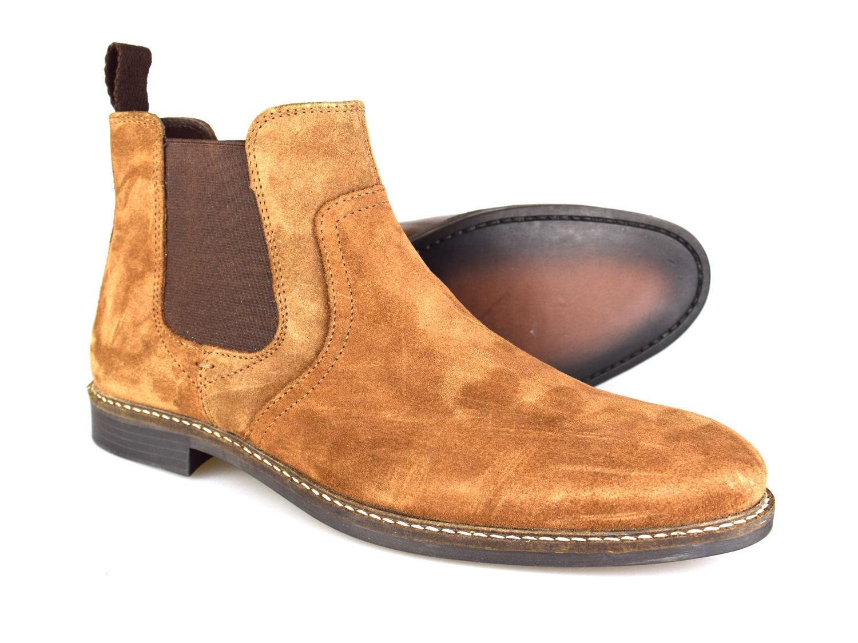 ROT braun Tape Newton braun ROT Wildleder klassisch Chelsea Stiefel 060867