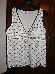 White-Cotton-Top-by-George-ASDA-Size-14