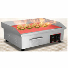 3000w Electric Countertop Flat Griddle Restaurant Top Grill Restaurant Cooktop