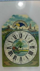 HANDPAINTED-REPLACEMENT-DIAL-FOR-LARGE-DUTCH-FRIESIAN-TAIL-WALL-CLOCK-4