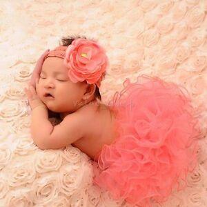 2b7e60efda5 Image is loading Newborn-Baby-Girls-Tutu-Skirts-Flower-Headband-Infant-