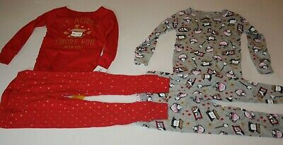 NWT Carter/'s Sz 3T 4T or 5T Girl 4 Piece Dinosaur Girls Cotton PJs  Pajamas NEW