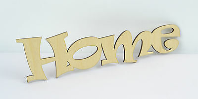 Plain HOME Wooden Script Letter Sign/ Wall Plate/ Home Decor/ Door Sign