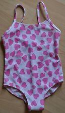 Süßer BENETTON ♥ Herzchen ♥ Badeanzug weiß rosa Gr. 86 / 92  NEU