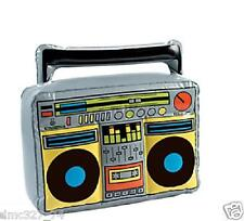 Totally Awesome 80s Party Decoration Prop INFLATABLE BOOM BOX Ghetto Blaster