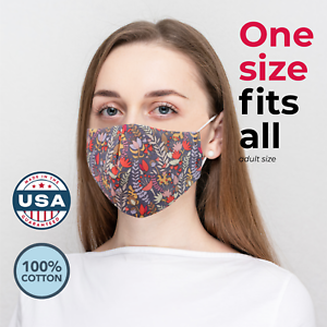 Made In Usa Washable Reusable 3 Layers Cloth Face Mask W Filter Pocket Nose Clip Ebay