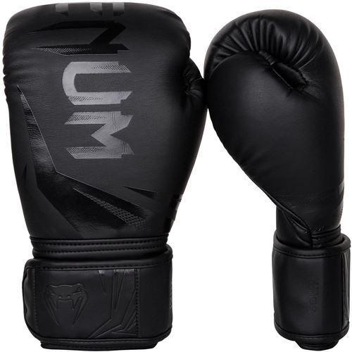 Black//Black Venum Challenger 3.0 Boxing Gloves
