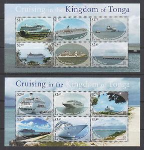 Tonga-Sc-1242-1243-MNH-2013-Cruise-ships-and-wharfs-complete-set-of-2-VF