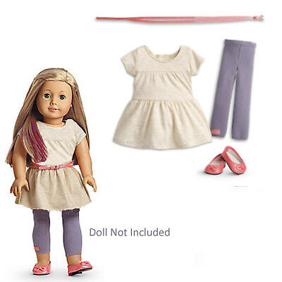 """American Girl MY AG DOUBLE BOW DRESS for 18/"""" Dolls Clothes Spring Retired NEW"""