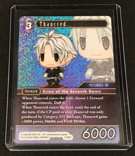 Mint Final Fantasy TCG 7-092C Thancred Foil Opus VII 7 Common