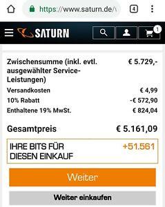 Saturn 10% discount voucher on everything ZB Apple