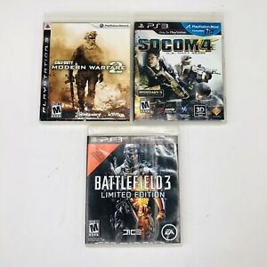 PlayStation-3-PS3-Call-Of-Duty-2-Modern-Socom-4-Battlefield-3-Limited-Game-Lot