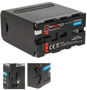 Baxxtar PRO Ersatz f. Akku Sony NP-F970 Plus Black Series 10500mAh +USB +LED +DC