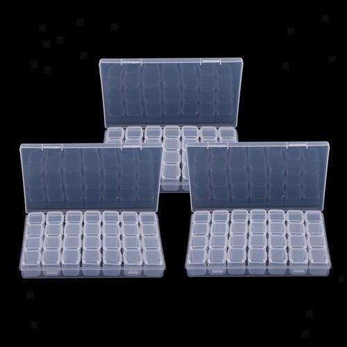 3er Pack 84 Grids Durchsichtige Kleinteile Aufbewahrungsbox