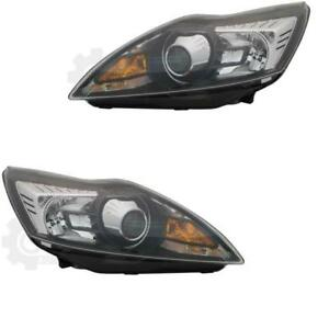 Xenon-Headlight-Set-Ford-Focus-08-07-02-11-Black-D1S-H1-with-Motor-2C5
