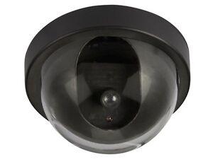 camera dome de surveillance securite factice fausse a led. Black Bedroom Furniture Sets. Home Design Ideas