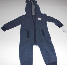 adcdc249f Buy Carters Infant Boys Blue Gray Bear Ear Hooded Fleece Jumpsuit ...