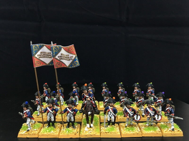 28mm Napoleonic War DPS painted painted painted French Infantry GH512 9613d1
