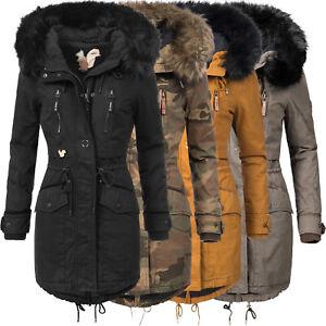 Kapuze Zu Kunstpelz Ja Khujo Baumwoll Ym Winter Damen Parka Mantel Stepp Details Warm Jacke Nym8n0vwO
