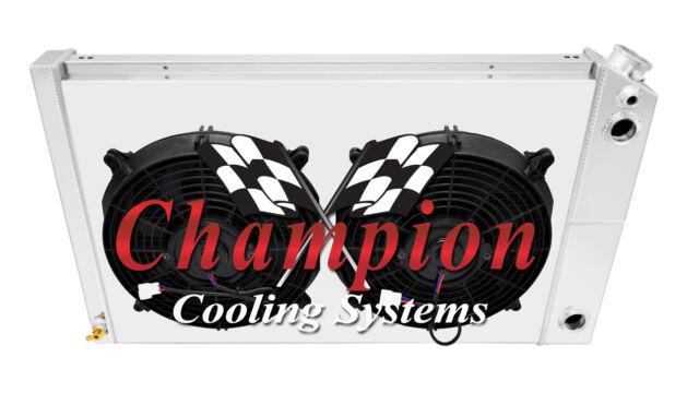 "3 Row Ace Radiator 26/"" Core W// 2 12/"" Fans for 1978-1987 Chevrolet El Camino"