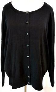 Lane-Bryant-Womens-Plus-Size-18-20-Cardigan-Sweater-Black-Long-Sleeve-Classic