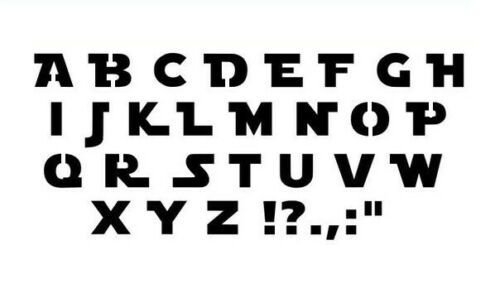 Star Wars Alphabet Police Stencil-A4//A5//A6