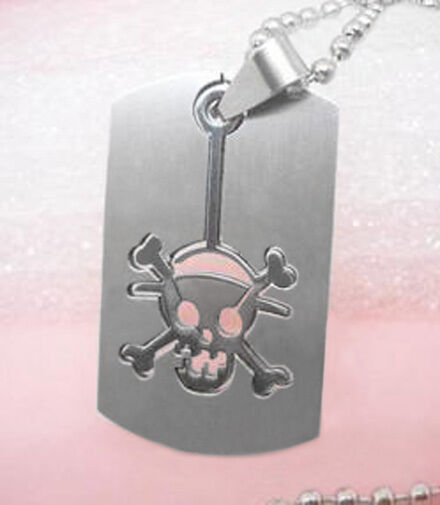 B1121 skull Stainless Steel pendant & Stainless Steel necklace charm cool chain