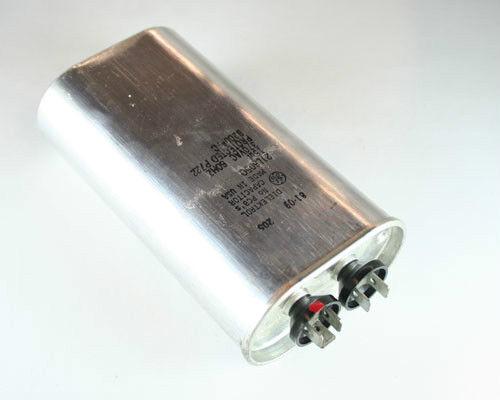 New 2 pcs of GE 15uF 370VAC Motor run capacitor oval metal case 21L6050