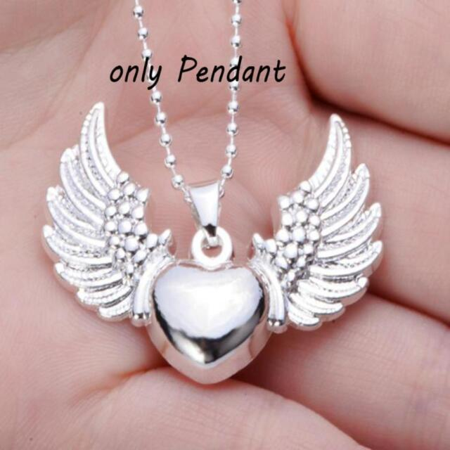 HOT925 Sterling Silver Plated Women Double Heart Pendant Necklace Chain Jewelry.