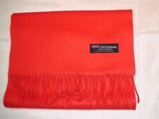 New 100% Cashmere Scarf Soft 72X12 Solid Red Scotland Wool Men Wrap Check Plaid