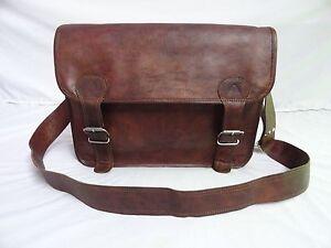18-034-Vintage-Leder-Messenger-Bag-Laptop-Satchel-Crossbody-Schulter-Schultasche