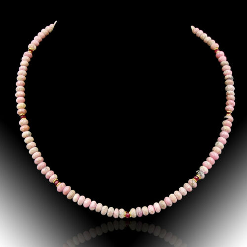 Bailysbeads Edel Designer rosa Opal /& Rubin cadena collar Collier nuevo 298