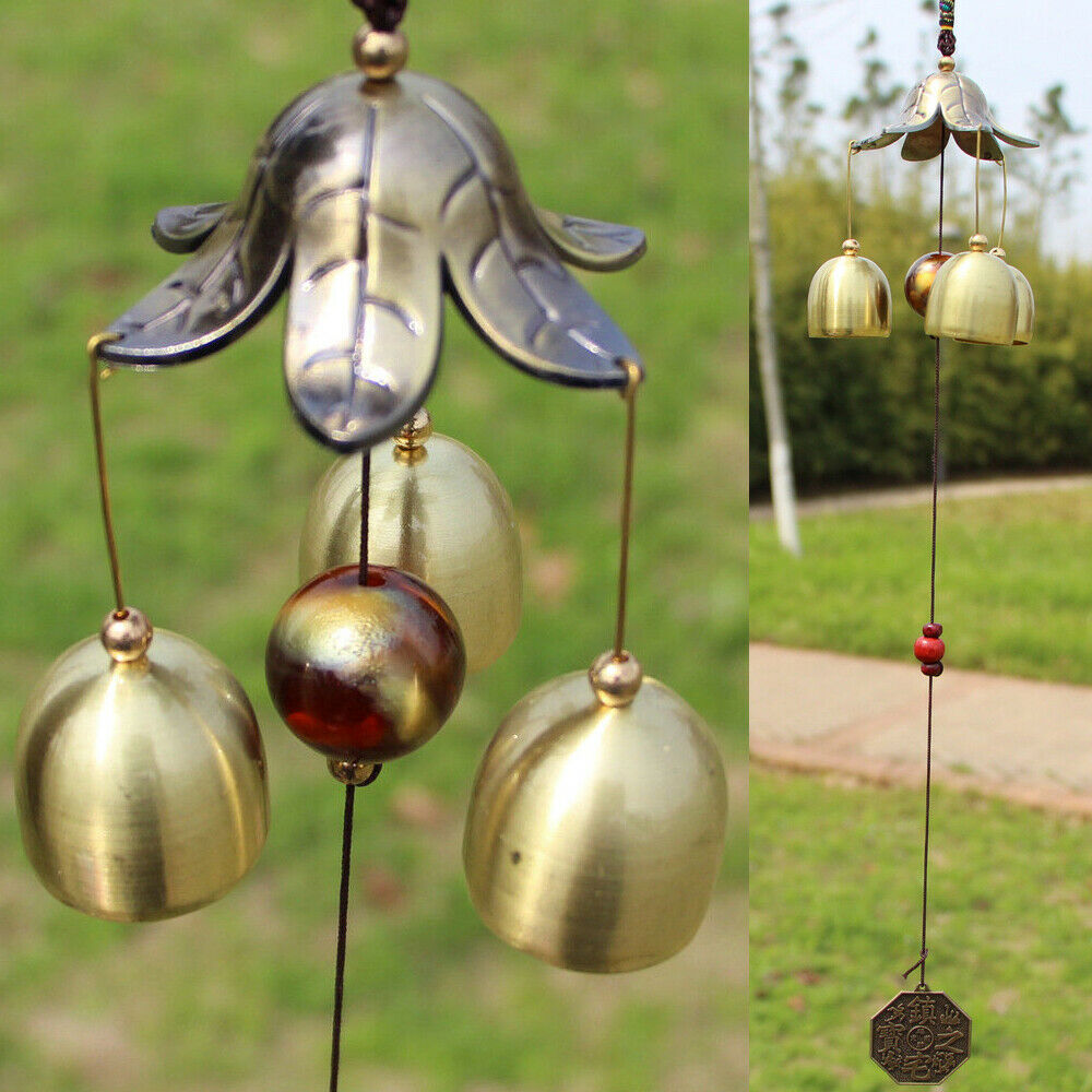 3 Bells Metal Wind Chimes Windchime Home Garden Yard Hanging Ornament Decor Gift