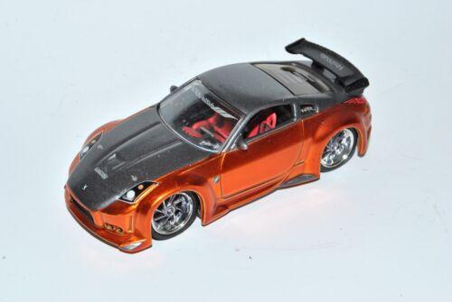Nissan 350Z Orange Coupe Tuning 1//64 Jada Toys Modell Auto mit oder ohne indiv..