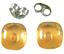 Glass-Earrings-Amber-Yellow-Iridescent-Metallic-Teal-Layer-Post-1-4-034-8mm-STUDS thumbnail 1