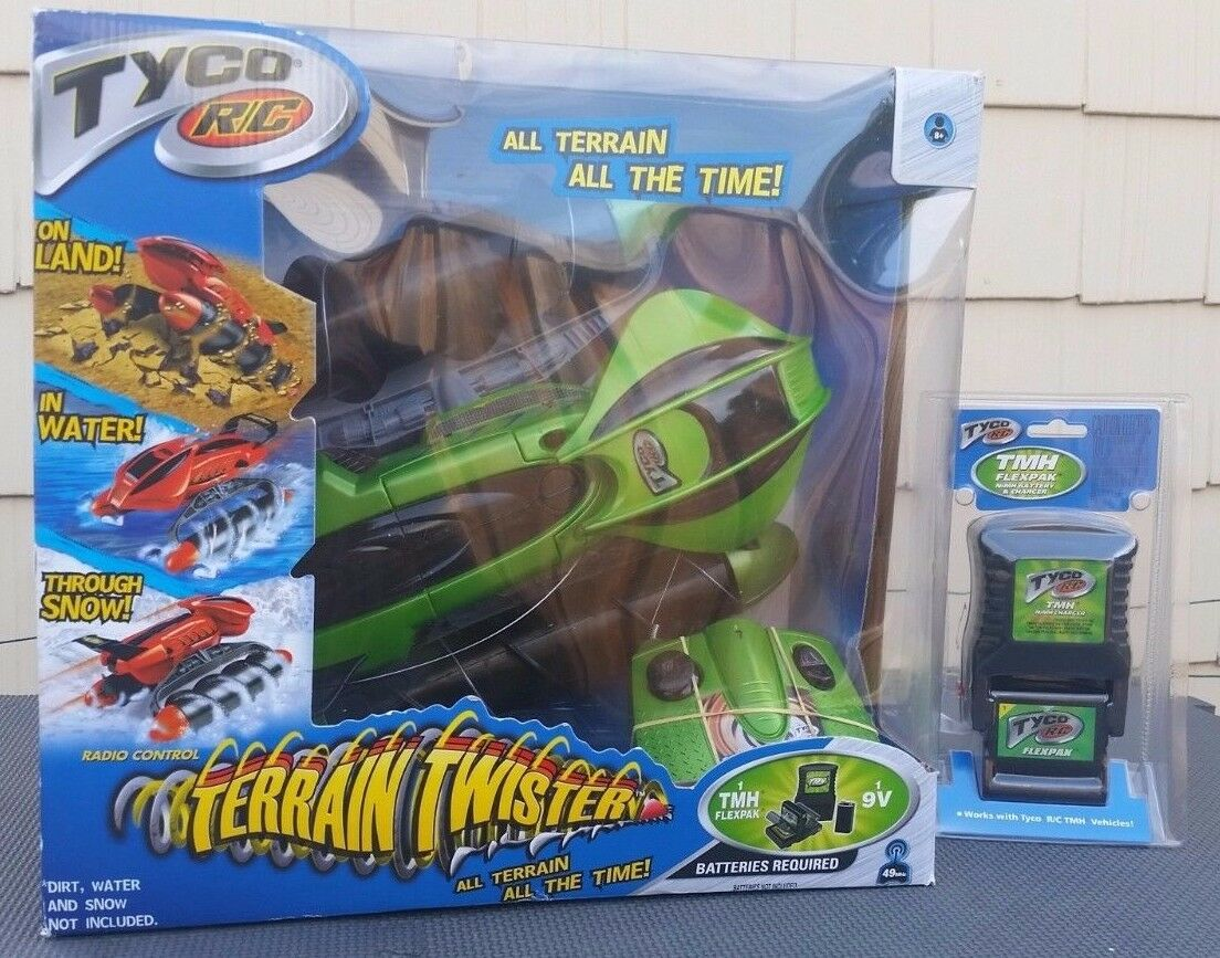 Tyco RC Terrain Twister bundle Complete Open Box + battery tested works