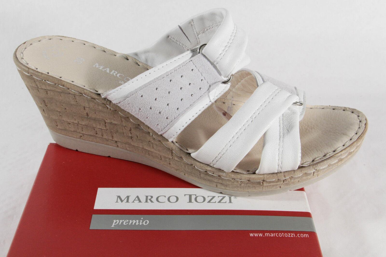 Marco Tozzi Sandali, bianco, interna in pelle morbida suola interna bianco, NUOVO! ff602a