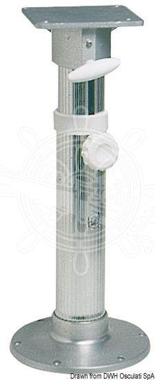 Osculati Drehfuss Eloxal Eloxal Drehfuss pol. 45-62 cm Aluminium 77d7c6