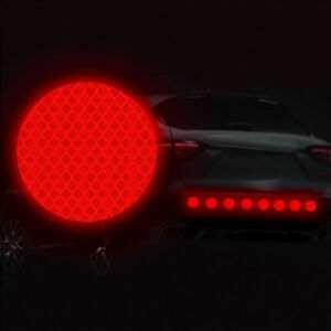 10x-Universal-Auto-Car-Bumper-Styling-Safety-Warning-Car-Stickers-Reflective-Top