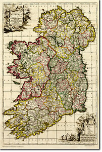 Ancient Map Of Ireland.Details About Vintage Map Of Ireland From 1710 Photo Print Poster Gift Old Ancient Historic