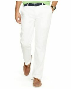 Polo Ralph Lauren Flat Front Cotton Twill Chino Khaki Pants Classic Fit NWT $85