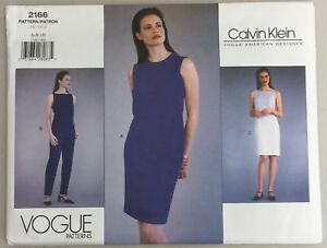 Image Is Loading Vtg 90s Vogue 2166 Calvin Klein Designer Dress