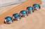 10PC-30MM-FLORAL-TURQUOISE-ANTIQUE-SLIVER-SCREW-BACK-LEATHERCRAFT-LEAF-CONCHOS miniature 10