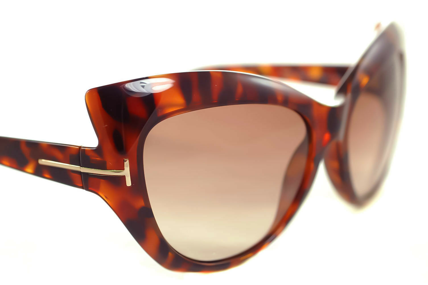 27af12a514 TOM FORD BARDOT tf284 52f Mujer Ojos De Gato Gafas de sol Mariposa Marrón  Havana