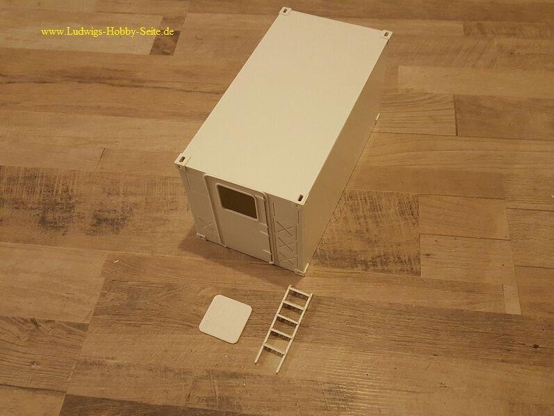 Esercito tedesco cabina radio shelter container Unimog CAMPER VALIGIA RC 1:16