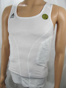 b1152ef6 Details about adidas TECHFIT ClimaCOOL Padded Compression System White Mens  Tank Top 88387 NWT